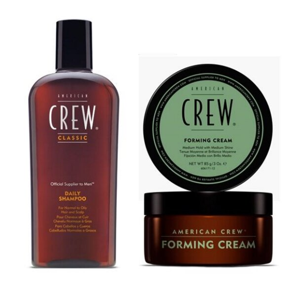 American Crew - CLASSIC DUO - Daily Shampoo für normales bis fettiges Haar 250ml + Forming Cream 85g