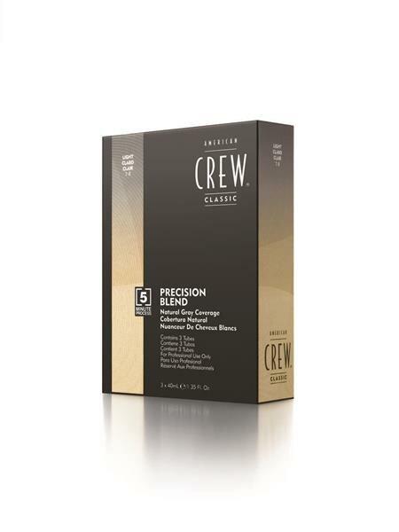 American Crew - Precision Blend Tönung LIGHT Tonhöhe 7-8 (Blond) - Haartönung mit 4-6 Wochen Haltbarkeit 3x40ml