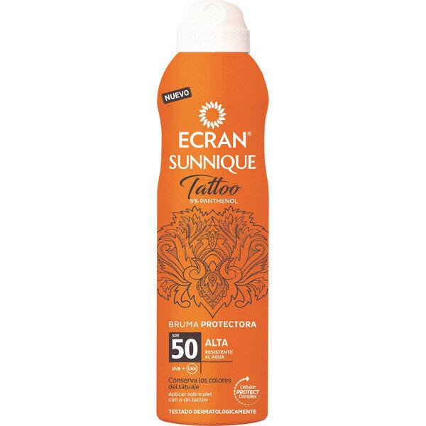 Sun Spray - wasserfestes Fixierspray Sunnique Tattoo FPS50 - Sonnenschutzspray Tattoo mit 5% Panthenol - 250ml