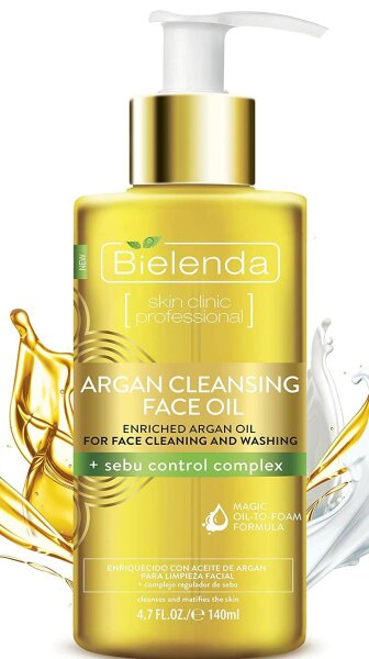 Argan Cleansing Face Oil - mit Arganöl zum Reinigen bei Mischhaut und unreiner, fettiger Haut - 140 ml